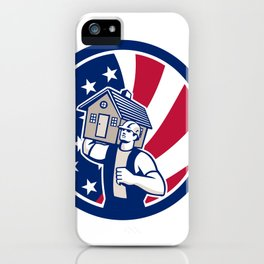 American House Removal USA Flag Icon iPhone Case
