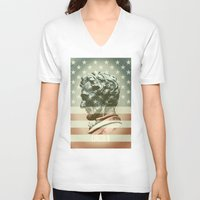 lincoln V-neck T-shirts featuring Lincoln by Gusvili