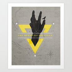 The Bermuda Triangle Art Print