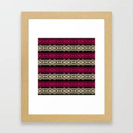 Luxury lace print Framed Art Print