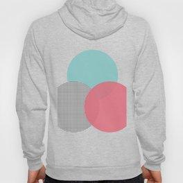 abstract circles - blue pink grid Hoody
