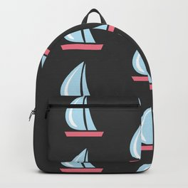 Seamless pattern with sail boat Backpack