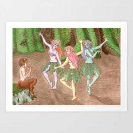 Dryads - Let's Dance Art Print
