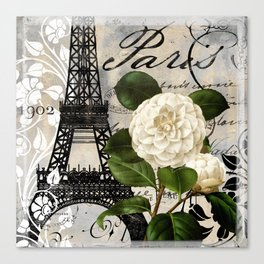 Paris Blanc I Canvas Print