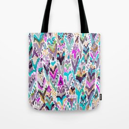 Abstract Colorful Feathers Tote Bag