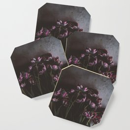 Dark Purple Floral (Color) Coaster