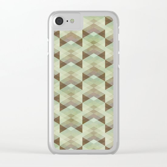 Hipster Pattern Clear iPhone Case