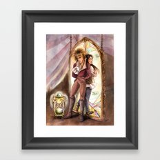 Jareth and Sarah Labyrinth Framed Art Print