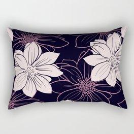 Black and pink autumn dahlia flowers Rectangular Pillow