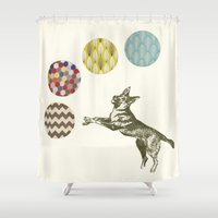games Shower Curtains featuring Ball Games by Cassia Beck