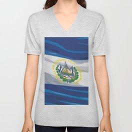 El Salvador Fancy Flag Unisex V-Neck