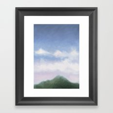 mountain in the early evening Framed Art Print