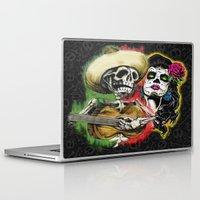 dia de los muertos Laptop & iPad Skins featuring Dia de Los Muertos by Kevin Rogerson