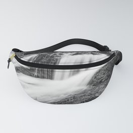Mountain river flowing in the woods Fanny Pack