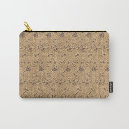 Burlap and Lace Pattern Carry-All Pouch