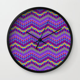 Crazy Purple Stripes Wall Clock