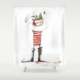 Naughty Boy Shower Curtain