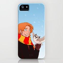 Ron and Pigwidgeon iPhone Case