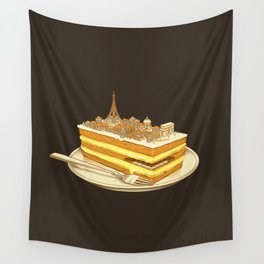 Hungry for Travels: Slice of Paris Wall Tapestry