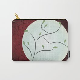Full Moon with Leaves (Red) Carry-All Pouch