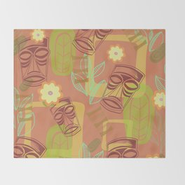 Happy Hour At The Tiki Room Throw Blanket