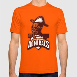 Mon Calamari Admirals on Orange T-shirt