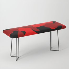 Black and Red Camo abstract Bench