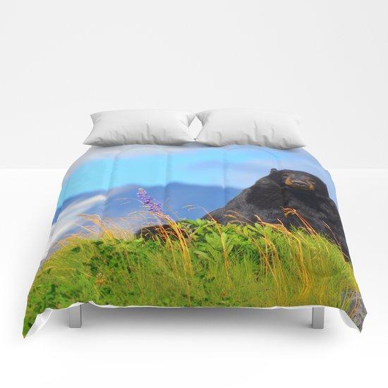 Alaskan Black Bear Comforters