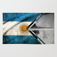 argentina Area & Throw Rugs featuring Flags - Argentina by Ale Ibanez