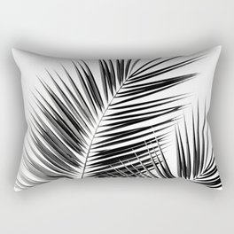 Black Palm Leaves Dream - Cali Summer Vibes #1 #tropical #decor #art #society6 Rectangular Pillow