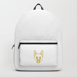 Gold head of dog Backpack