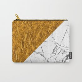 Gold and Stone Carry-All Pouch
