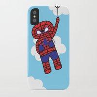 superheros iPhone & iPod Cases featuring Superheros by oekie