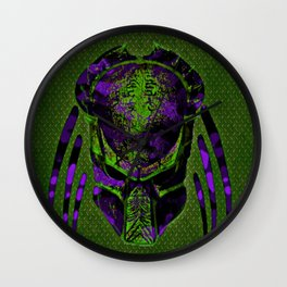 Soldier Predator Green Purple Wall Clock