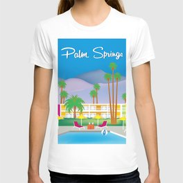 Palm Springs, California - Skyline Illustration by Loose Petals T-shirt