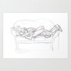 Snugs Art Print
