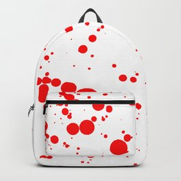 310001 Blood Red and White Painting Backpack
