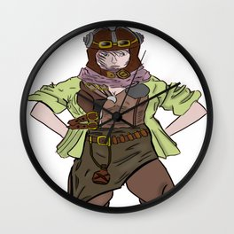 Steampunk Anime Girl Wall Clock