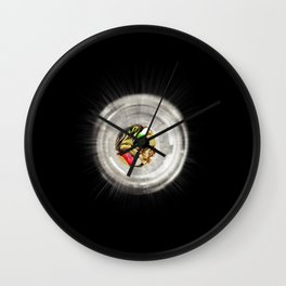 Guitarists' Light at the End of the Tunnel Wall Clock
