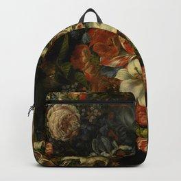 flower painting romantic boho gipsy wild roses art print Backpack