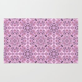 Pink kaleidoscope wallpaper Rug