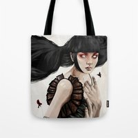 knight Tote Bags featuring Knight by Feline Zegers