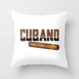 Cubano Cuban Cigar Throw Pillow