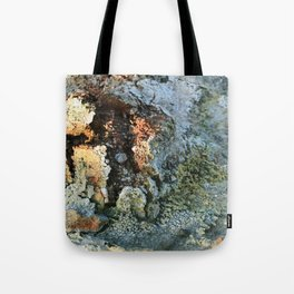 Growths on the Rocks by Geysers in Iceland Tote Bag