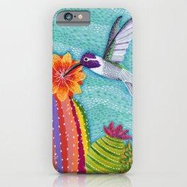 Costa Hummingbird & Barrel Cactus iPhone Case
