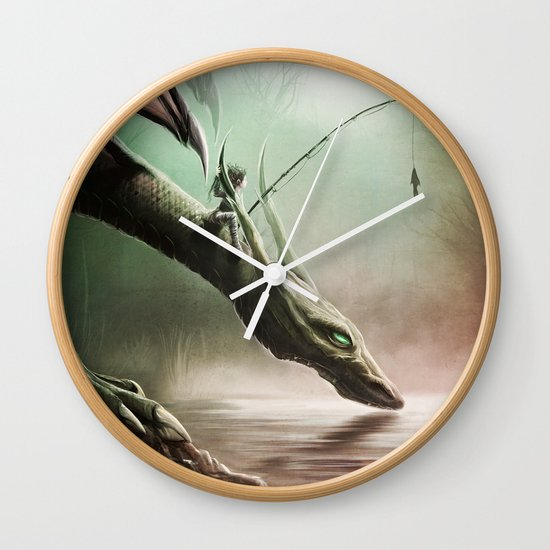 Fishing On The Drinking Dragon Wall Clock