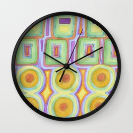 Double Rows over Double Rows Wall Clock