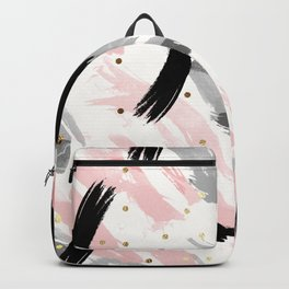 Strokes and gold dots Backpack