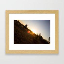 Nebraska Sunset Framed Art Print