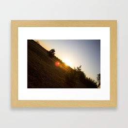 Nebraska Sunset Framed Art Print